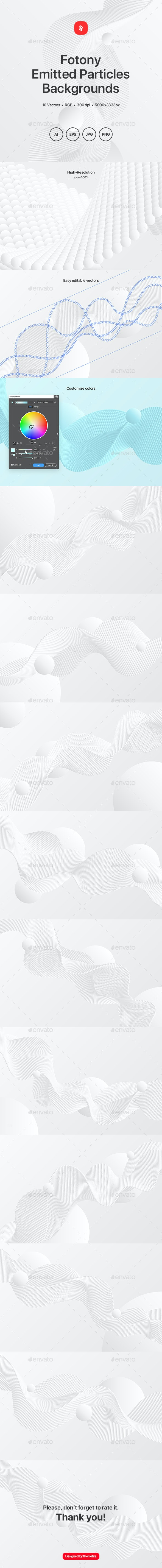 Fotony - Emitted Particles Array Backgrounds - Tech / Futuristic Backgrounds