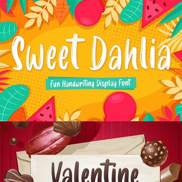 Sweet Dahlia - Cute Brush Font