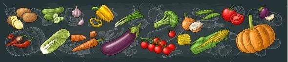 Set Vegetables - Food Objects