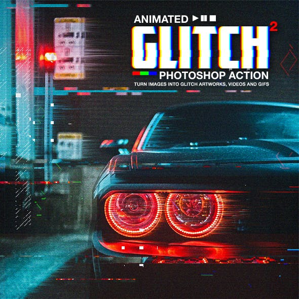 Animated Glitch 2 - Photoshop Action