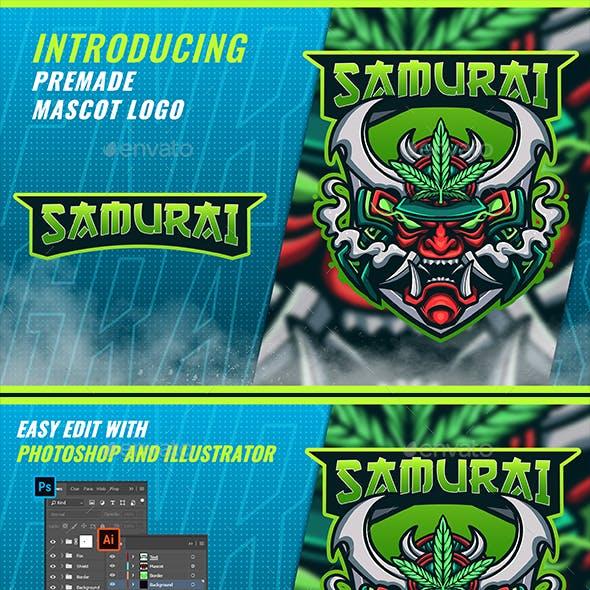 Samurai Cannabis - Mascot & Esport Logo