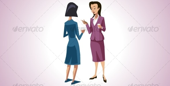 Female Colleagues Gossiping - Characters Vectors