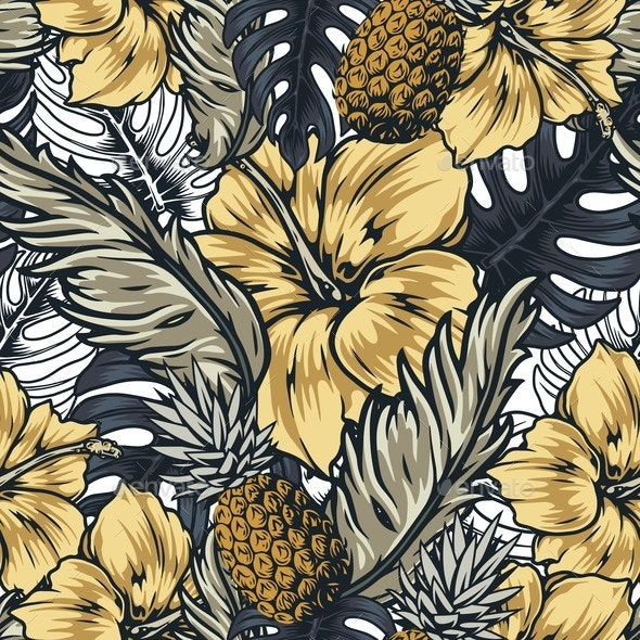 Tropical Seamless Pattern - Nature Conceptual