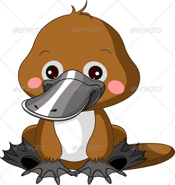Fun zoo. Platypus  - Animals Characters