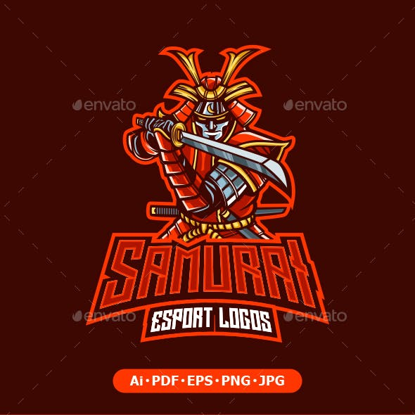 Samurai Mascot logo for esport and sport