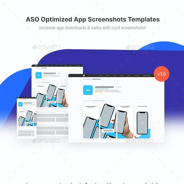 ASO Optimized App Screenshots Templates