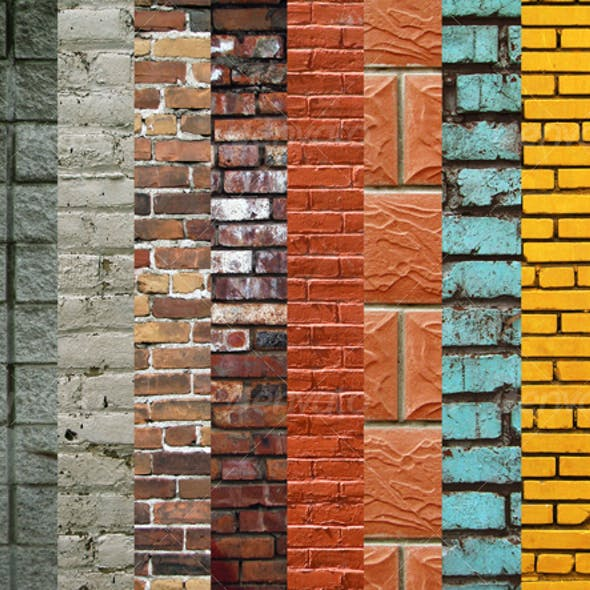 Brick Wall Texture Collection (10 images)