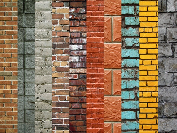 Brick Wall Texture Collection (10 images) - Industrial / Grunge Textures