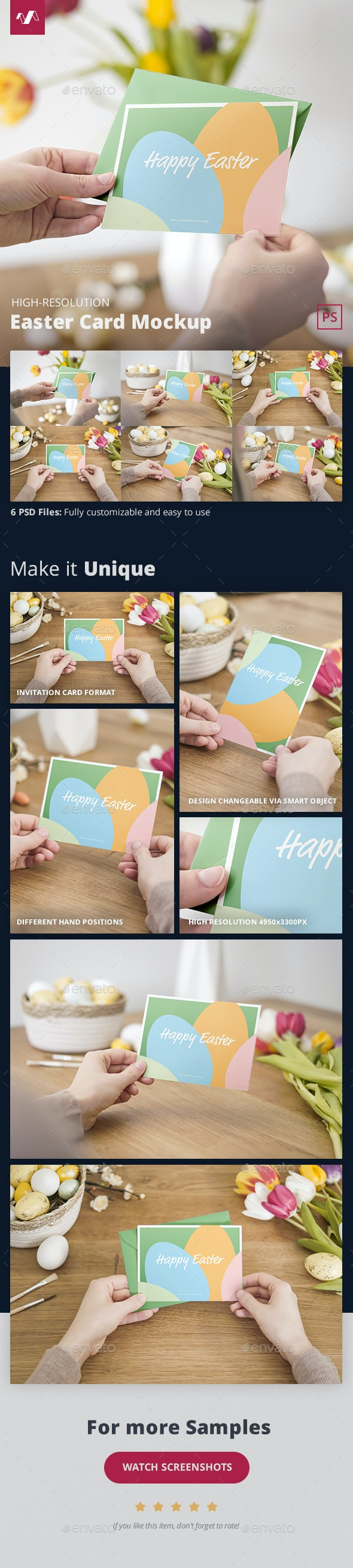 Easter Card Mockup - Miscellaneous Print