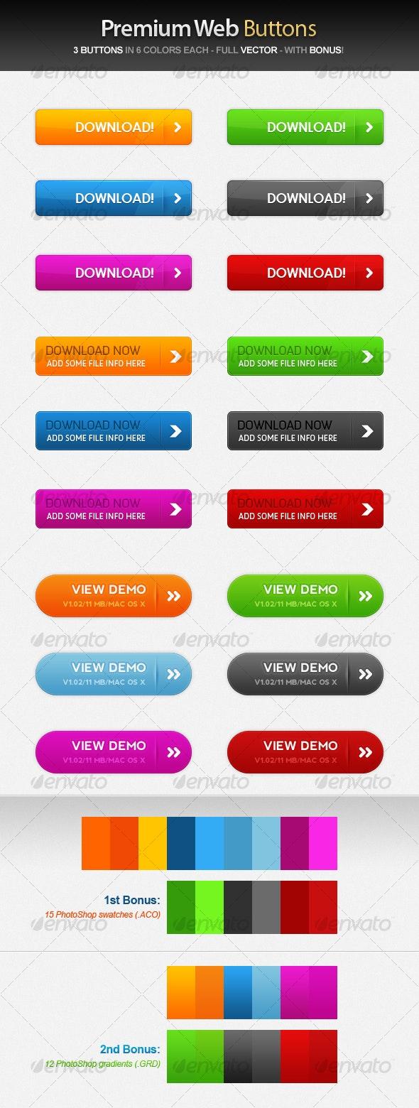 Premium Web Buttons - Buttons Web Elements