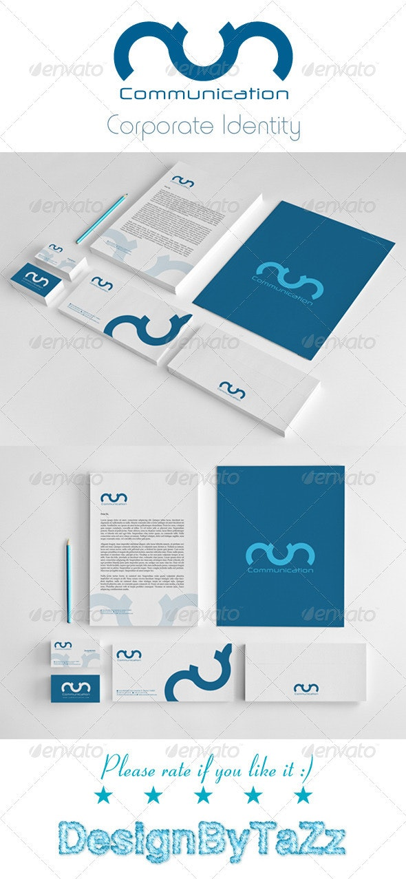 Communication Corporate Identity Package - Stationery Print Templates