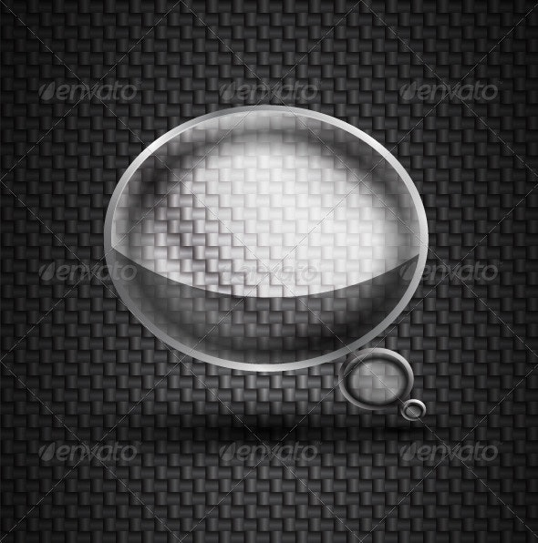 Glass Speech Bubble  - Web Technology