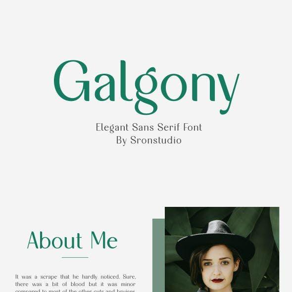 Galgony - Elegant Sans Serif Font
