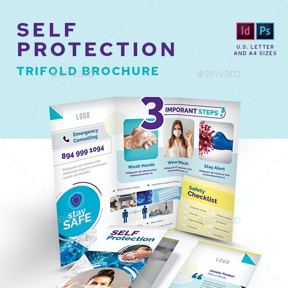 Self Protection Trifold Brochure