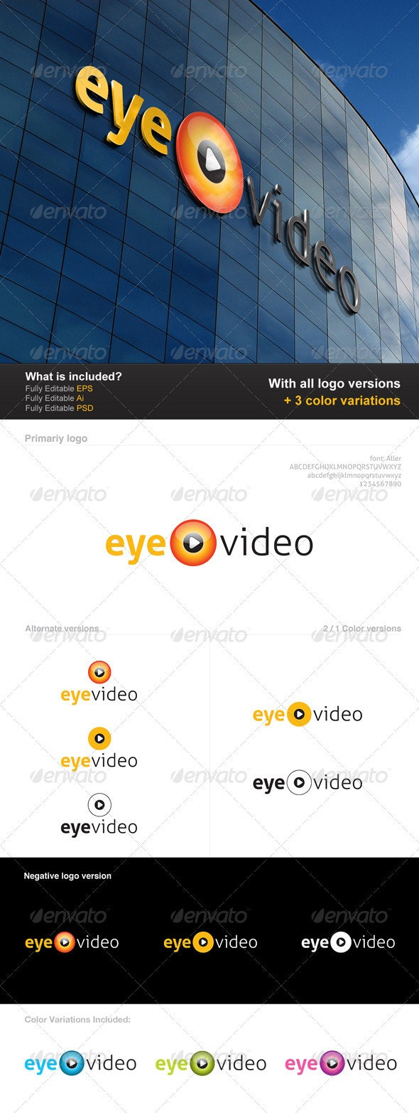 Eye Video Logo - Symbols Logo Templates