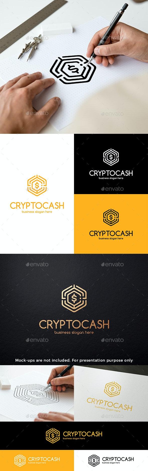 Bitcoin Crypto Currency Cash Logo - Symbols Logo Templates