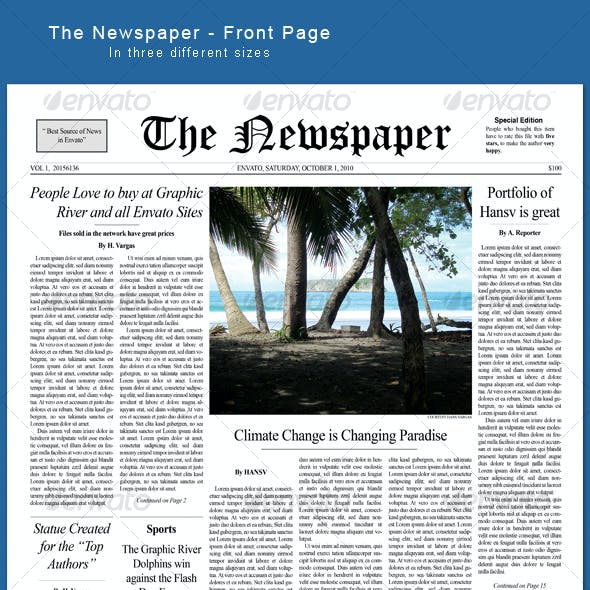 The Newspaper - frontpage