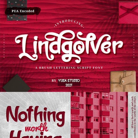 Lindgolver - a Brush Lettering Script Font