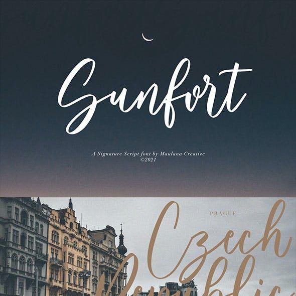 Sunfort Signature Script Font