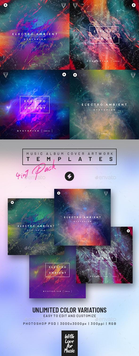 Electro Ambient vol.2 – Music Album Cover Art Templates Pack - Miscellaneous Social Media