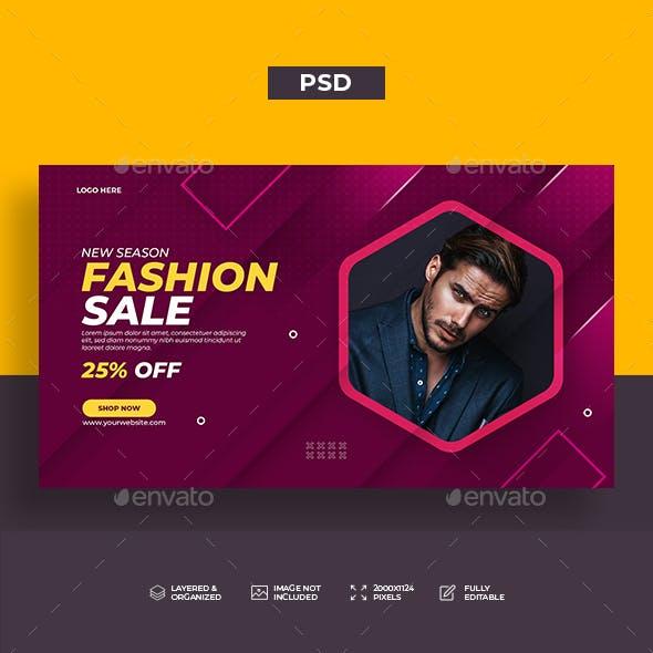 Fashion Sale Web Banner Template