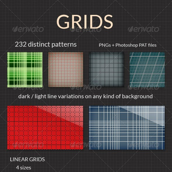 Grids - PNG and PAT Grid Patterns