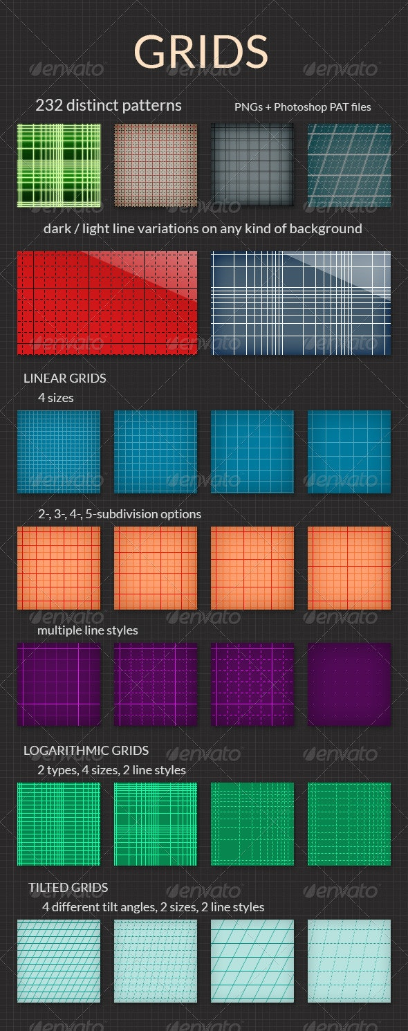 Grids - PNG and PAT Grid Patterns - Patterns Backgrounds