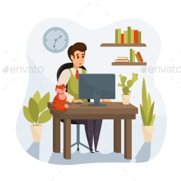 Freelance Remote Work Business Concept
