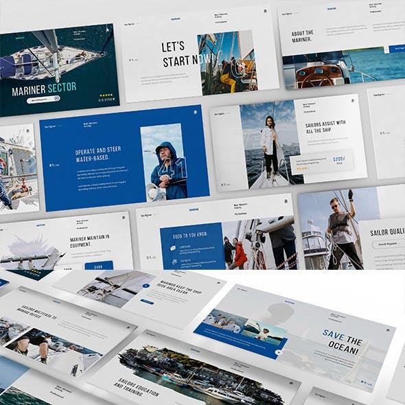 Marine Sector Keynote Presentation Template