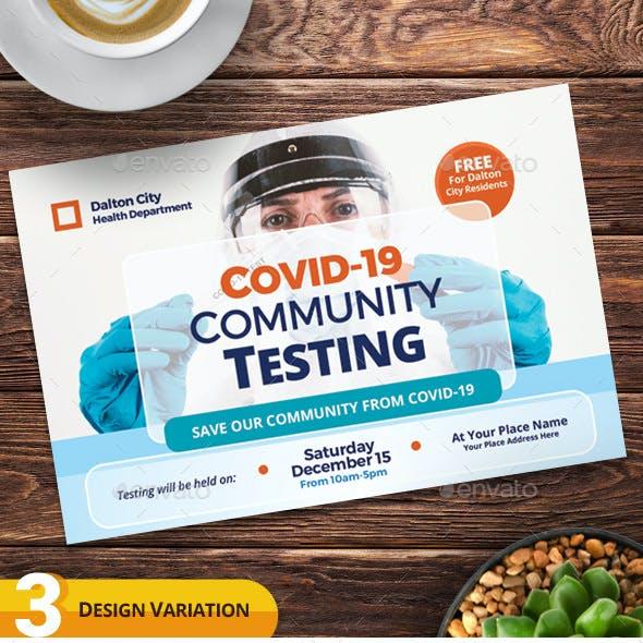 Covid-19 Testing Postcard Templates