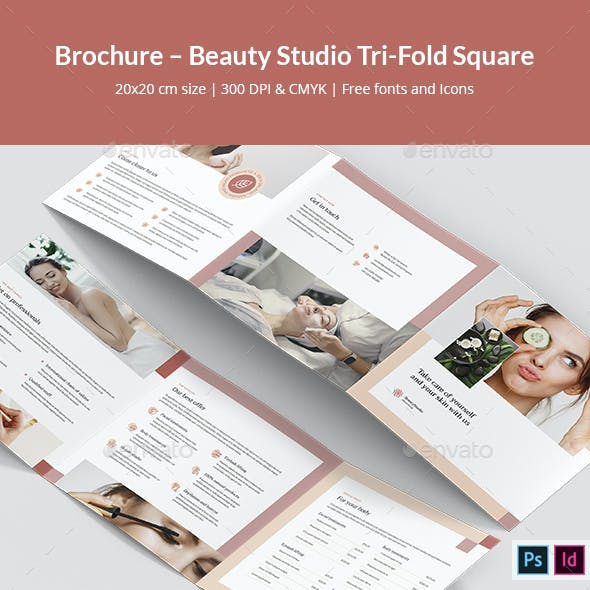 Brochure – Beauty Studio Tri-Fold Square