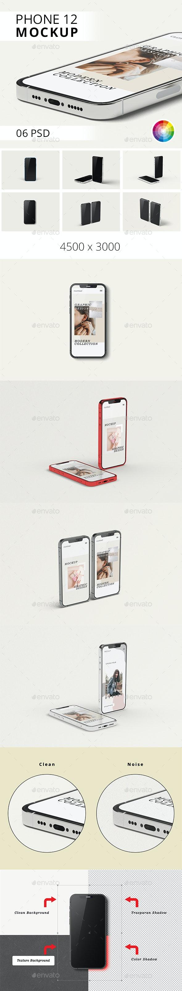 Phone 12 Mockup - Mobile Displays