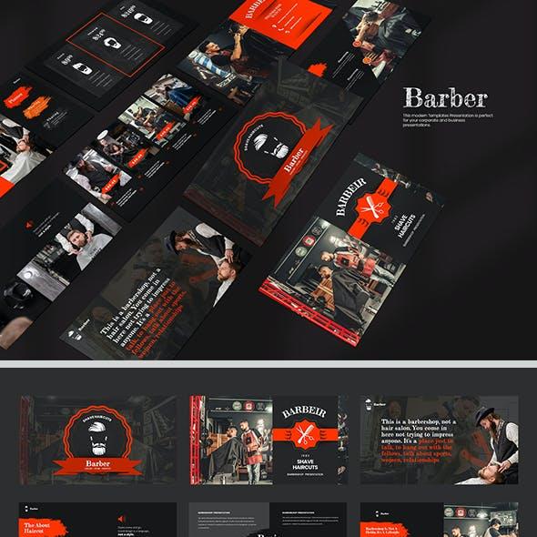 Barber Google Slide Templates