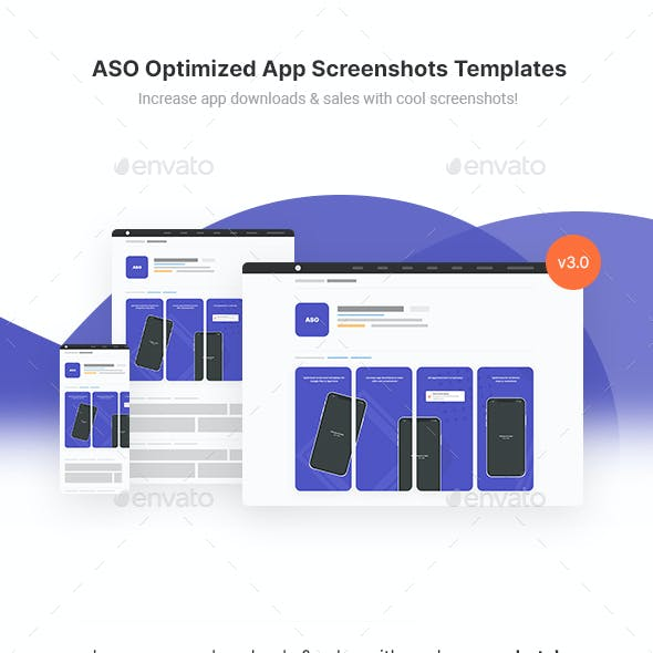 Optimized App Screenshots Templates