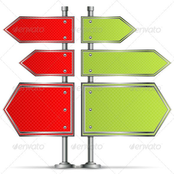 Pole with Road Signs