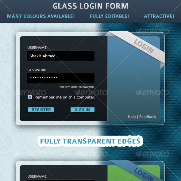 Glass Login Form