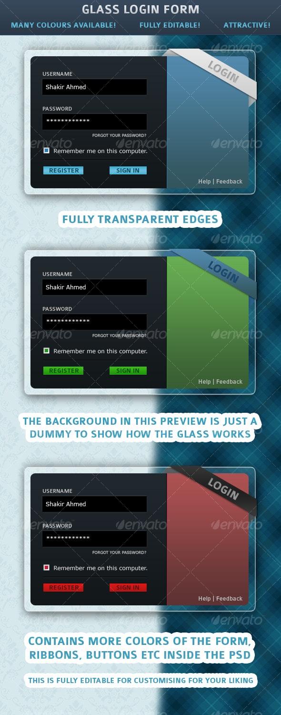 Glass Login Form - Forms Web Elements