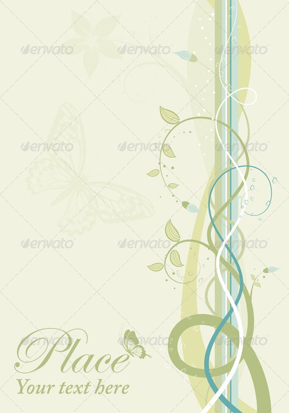 Spring background - Flourishes / Swirls Decorative