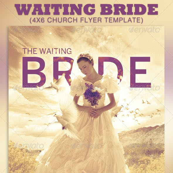 The Waiting Bride Church Flyer Template