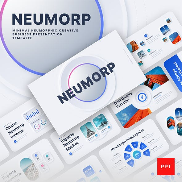 Neumorph - Neumorphic Corporate Business PowerPoint Presentation Template