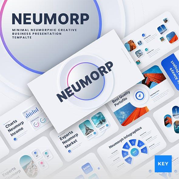 Neumorph - Neumorphic Corporate Business Keynote Presentation Template