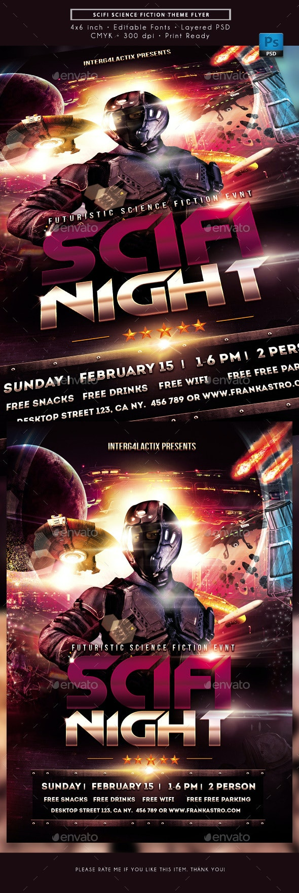 Scifi Science Fiction Themed Event Flyer - Miscellaneous Events