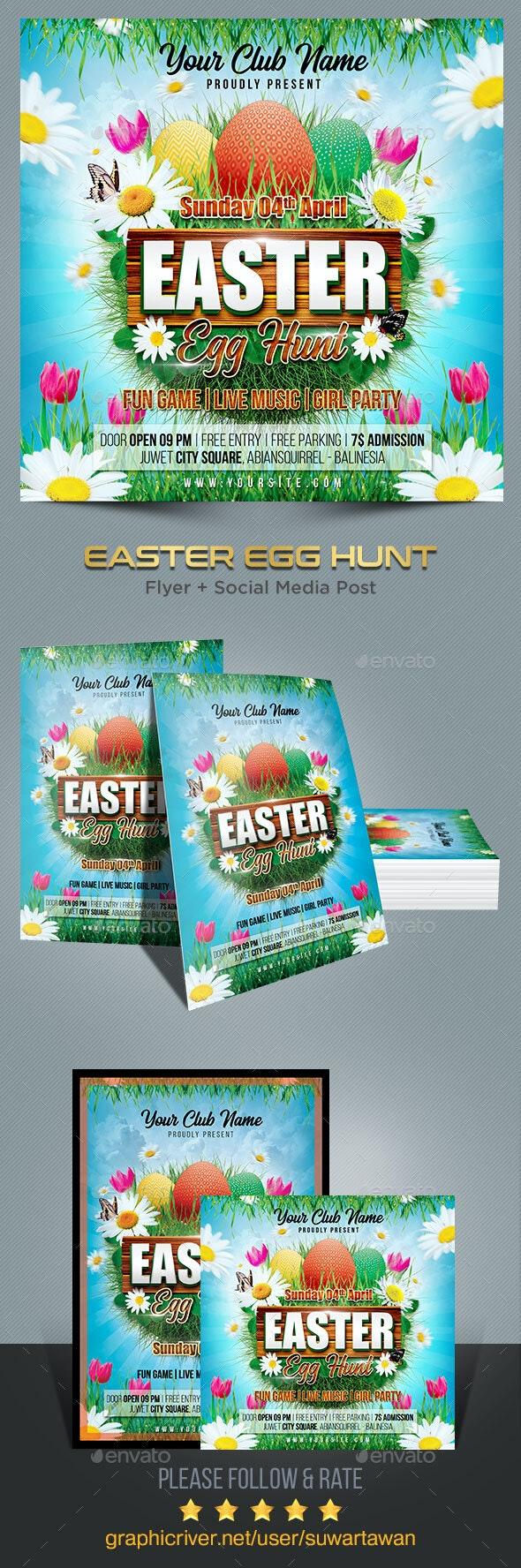 Easter Egg Hunt Flyer Template - Print Templates