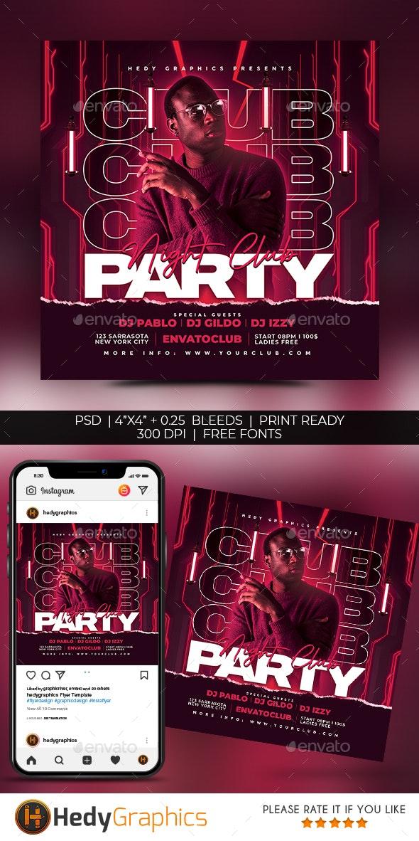 Night Club Flyer - Social Media Web Elements