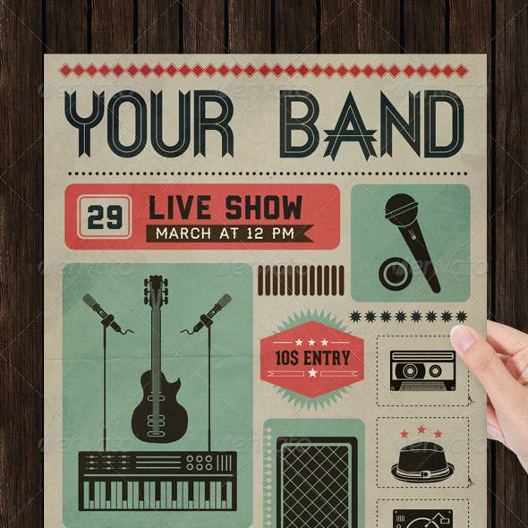Live Show Music Poster & Flyer Template