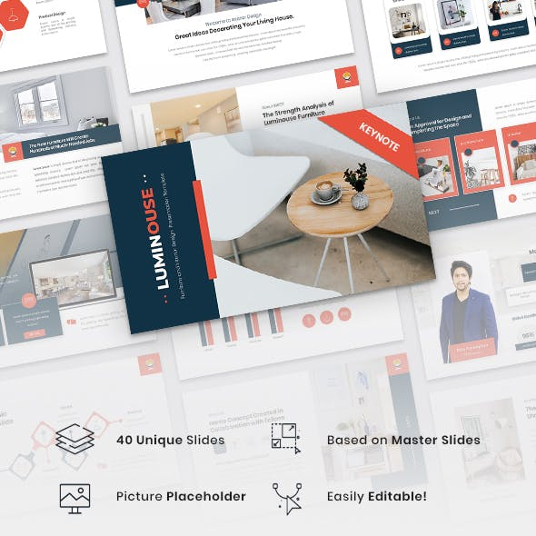 Luminouse - Furniture and Interior Design Keynote Template
