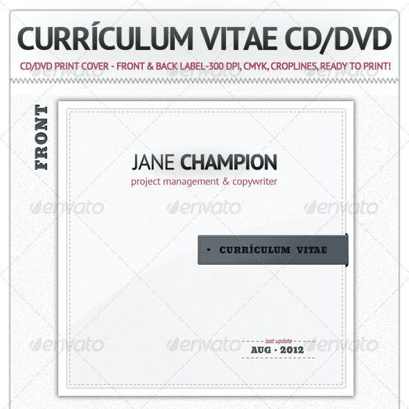 Curriculum Vitae CD / DVD