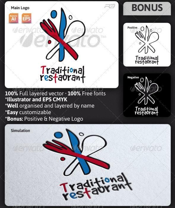 Traditional Restaurant Logo Template - Food Logo Templates