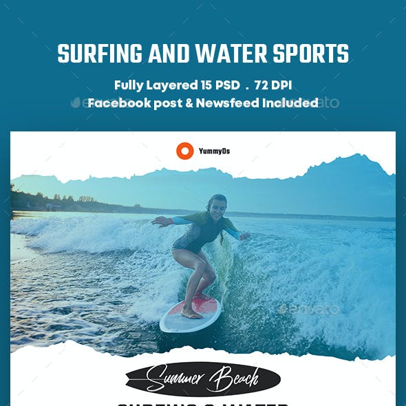 Surfing and Water Sports Banners Ad