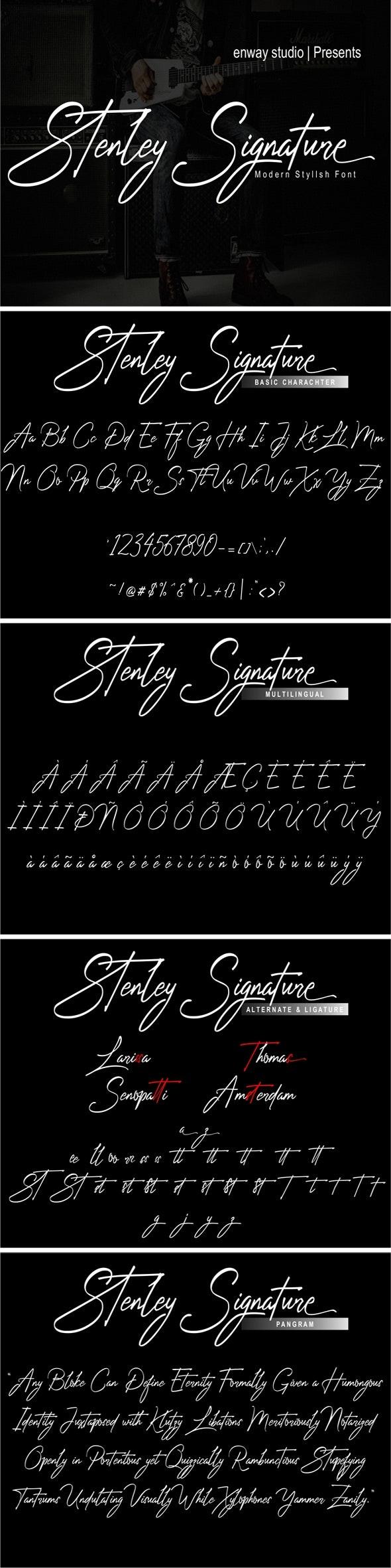 Stenley Signature - Hand-writing Script
